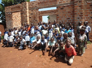 Children getting ready on Speech day