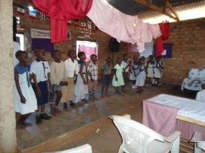 Singing for parents on Speech Day